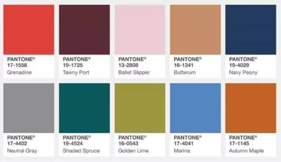 Pantone公司每个季度发布的流行色都能成为潮流的风向标,今年秋冬它给了我们十个指导色,每一个颜色看起来都很美。