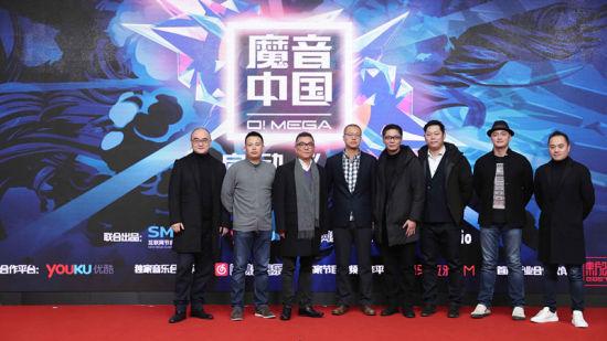 《魔音中国》新闻发布会现场领导嘉宾合影。/官方供图