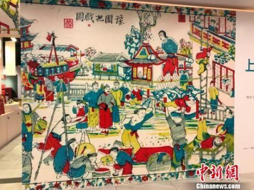 """金沙线上赌场:""""小校场年画""""重现老上海市井年味"""