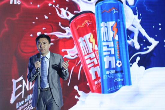 """赫马实验室创始人张彬介绍""""极马力""""酸马奶能量饮品的研发历程"""