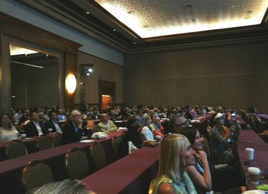 图为在美国拉斯维加斯举行的第13届世界脂肪酸科学大会会场一角。