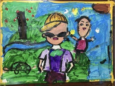 上海市控江二村小学一年级学生胡子涵的作品。