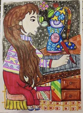广东省佛山市顺德区陈村镇中心小学黎思琪(8岁)上传的作品。