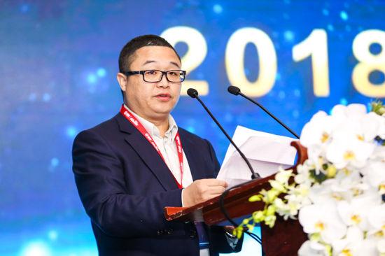 恒昌创始人兼CEO秦洪涛作为主办方发表致辞演讲。/官方供图