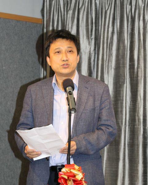 集古斋有限公司总经理赵东晓致辞。
