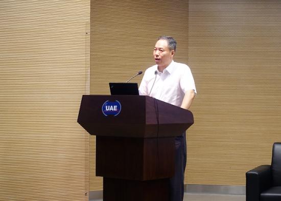 上海环境能源交易所董事长林辉致辞。