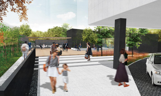 中区广场改造效果图-都市后花园。
