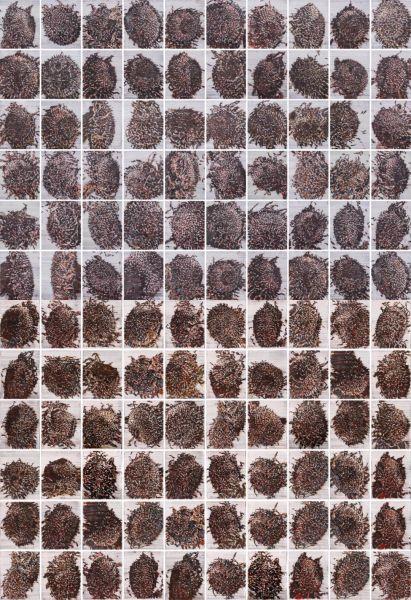 ▲ 《葵园肖像》纸面水彩 64cm×53cm×100 2018