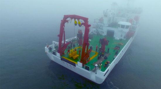 挑战当日海上弥漫着大雾/官方供图