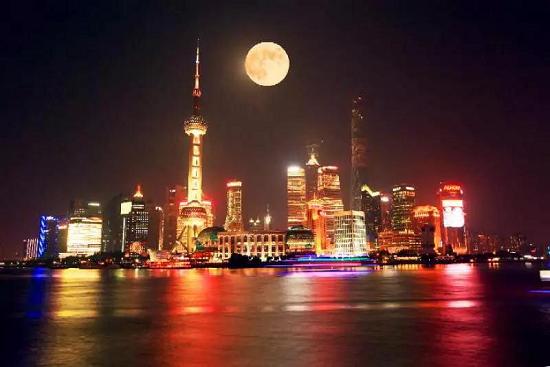 上海赏月。携程当地向导@杨柳供图