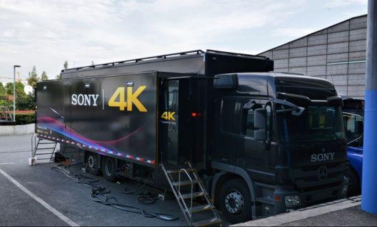 2015年百视通直播NBA中国赛使用的4K转播车