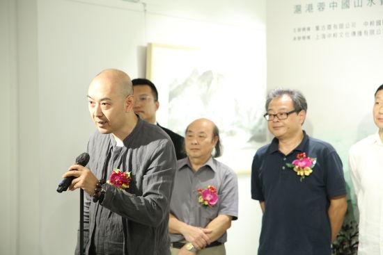 中国画学会(香港)会员、香港书画艺术研究学会会长陈伟致辞。