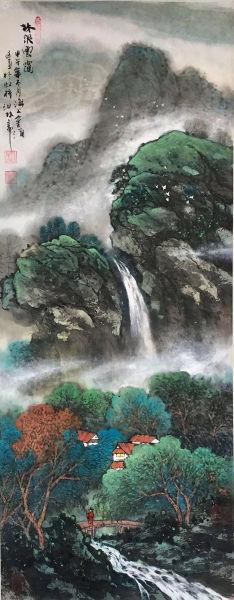 金勇 林泉��\ 38x95cm