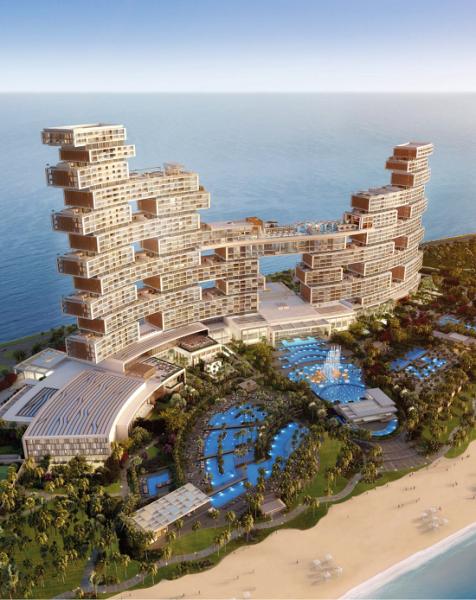 图为迪拜皇家亚特兰蒂斯度假村和住宅。(莱坊供图)