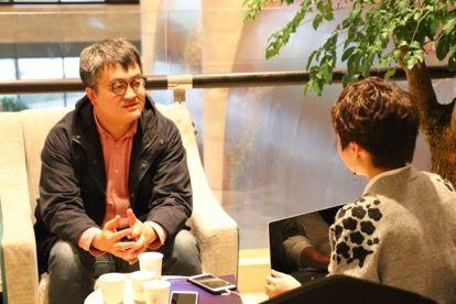 夸克链(QuarkChain)项目首席商务官杜挺现场接受采访