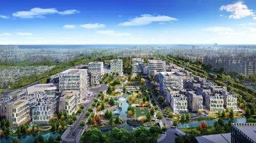 天安智谷上海长兴科创中心效果图
