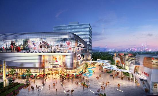 龙湖上海闵行天街效果图。