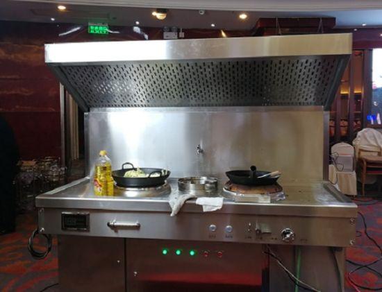 餐饮行业油烟高净化集成一体机实样。