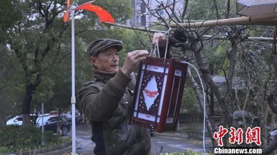 """上海居民自制彩灯 自家小花园里办起""""草根元宵"""