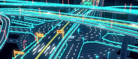 作为广州城市主流干道枢纽,中山一立交的高精度地图制作尤为复杂
