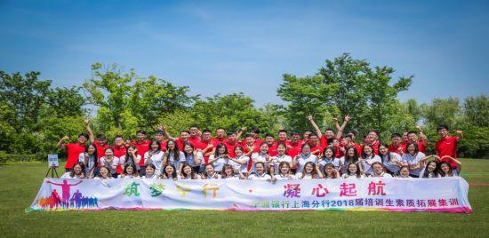 图:宁波银行上海分行培训生素质拓展集训。