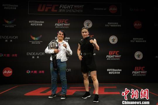 UFC格斗之夜?:安德拉德(左)VS张伟丽(右) 官方供图