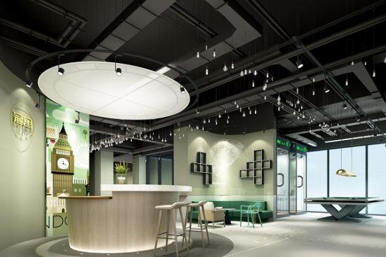 图:龙湖冠寓上海顾村公园店的公共区域。