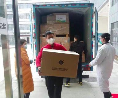 珀金埃尔默第二批捐赠的全自动核酸提取的仪器及试剂2月5日抵达湖北黄冈市疾病预防与控制中心