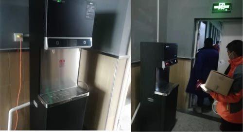 (安吉尔向武汉雷神山医院捐赠的抗毒抑菌直饮水设备)