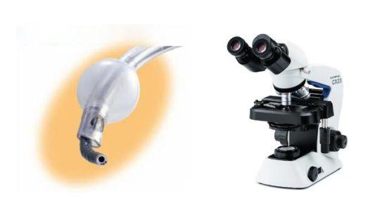 奥林巴斯纤维支气管镜(LF-TP,图左)和生物显微镜(CX23,图右)