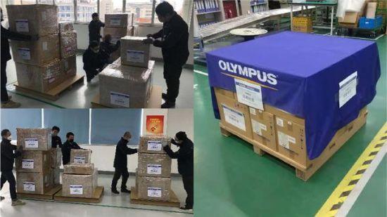 奥林巴斯捐赠物资助力疫区