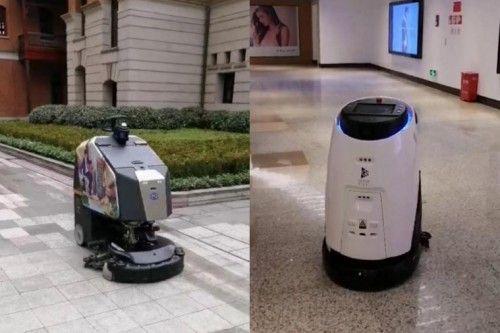 (兴业太古汇保洁机器人和巡逻机器人)