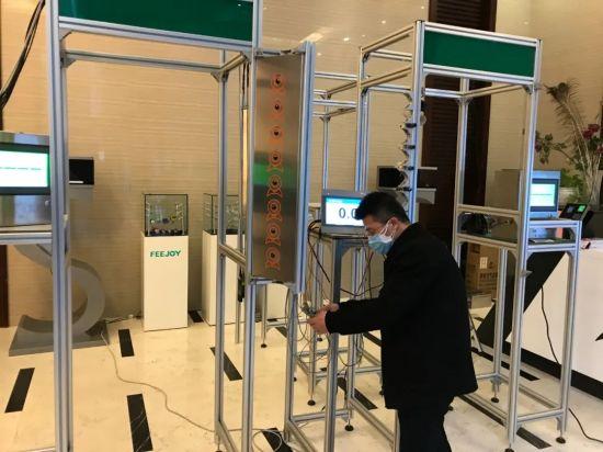 图:该公司红外测温仪产品用于上海市公共临床卫生中心等重要关口。