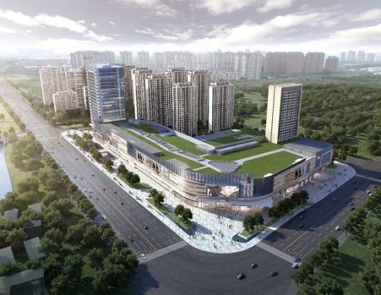 图:上海奉贤天街效果图。