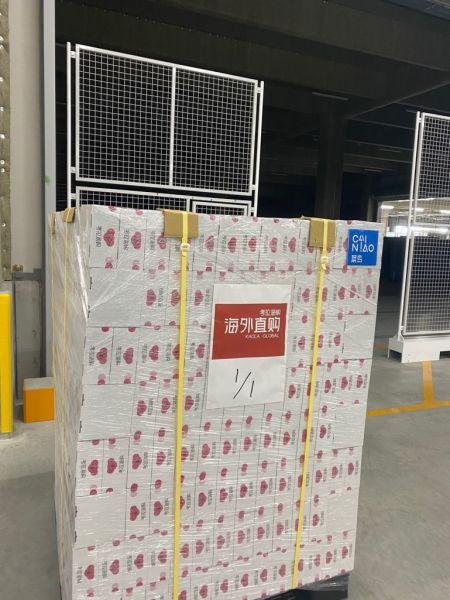 图:日本海外仓,来自日本的商品准备赶赴中国黄金周。