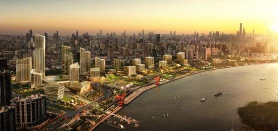 图:西岸金融城规划示意效果图。