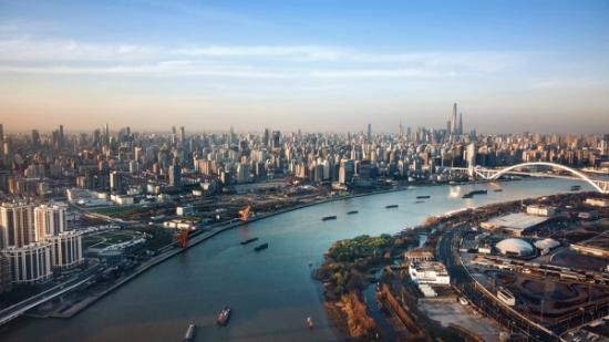 图:徐汇滨江实景。