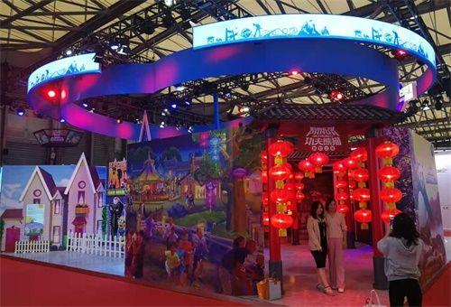 北京环球度假区展位 记者 姜煜 摄