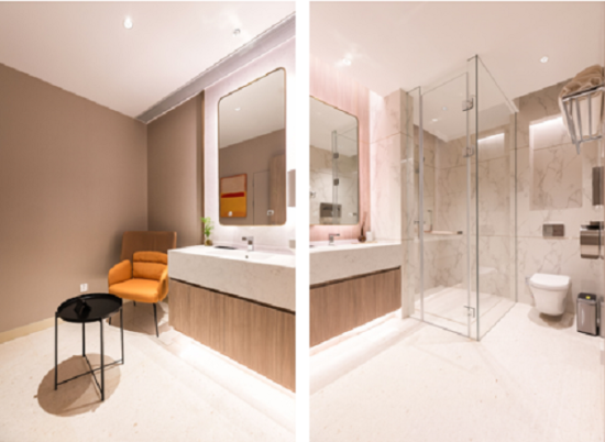 图:瑞虹企业天地母婴室&行政卫生间。