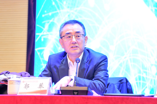图:交通银行党委委员、副行长郭莽出席仪式并致辞。