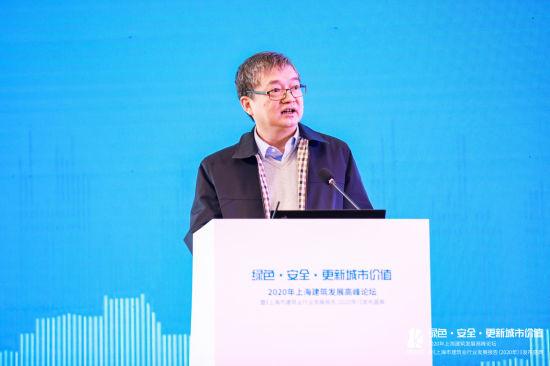 图:上海市住房和城乡建设管理委员会副主任裴晓。
