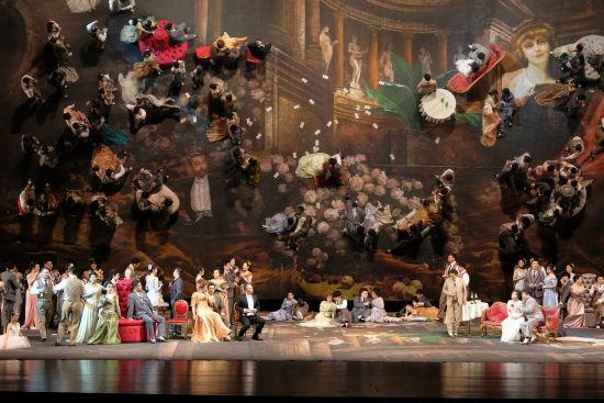 国家大剧院版歌剧《茶花女》。 /韩军 摄