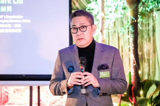 图:JERDE股东、资深副总裁及中国区董事总经理刘昶�N(Mark Liu)致欢迎辞