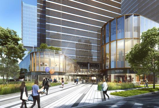 图:上海尚浦领世办公项目规划图。
