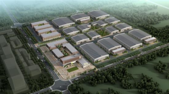 图:宁河区哈��电动车超级工厂规划图。