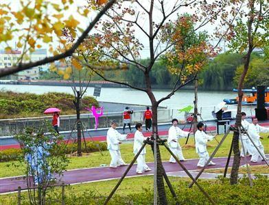 澳门国际赌博:体绿结合,吴淞江北岸江桥段变了