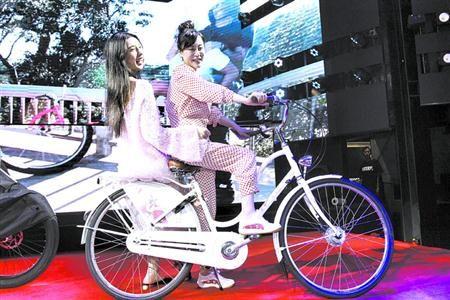 """""""昭君出塞""""艺术自行车亮相"""