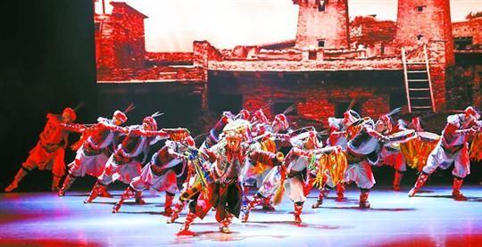 首届中国非遗舞蹈展演上的羌族羊皮鼓舞