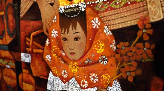"""澳门金沙开户娱乐:助力艺术家""""走出去""""_当代中国漆画展在上海自贸区开幕"""