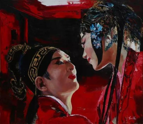 金沙国际官网网址:上海疏影艺术创新京剧油画传承中华国粹